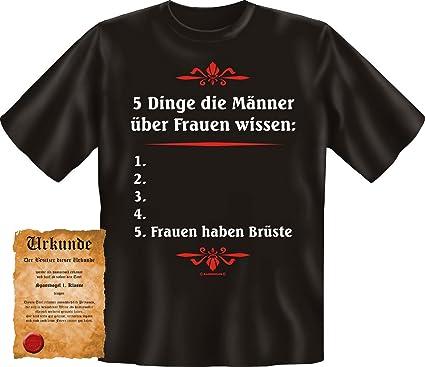 quality design aa3b5 722dd cooles Karneval T-Shirt - sexy Motiv: 5 Dinge die Männer ...