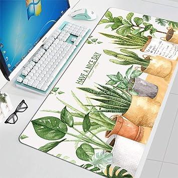 Tzsysb Planta tropical alfombrilla de ratón de dibujos animados ...