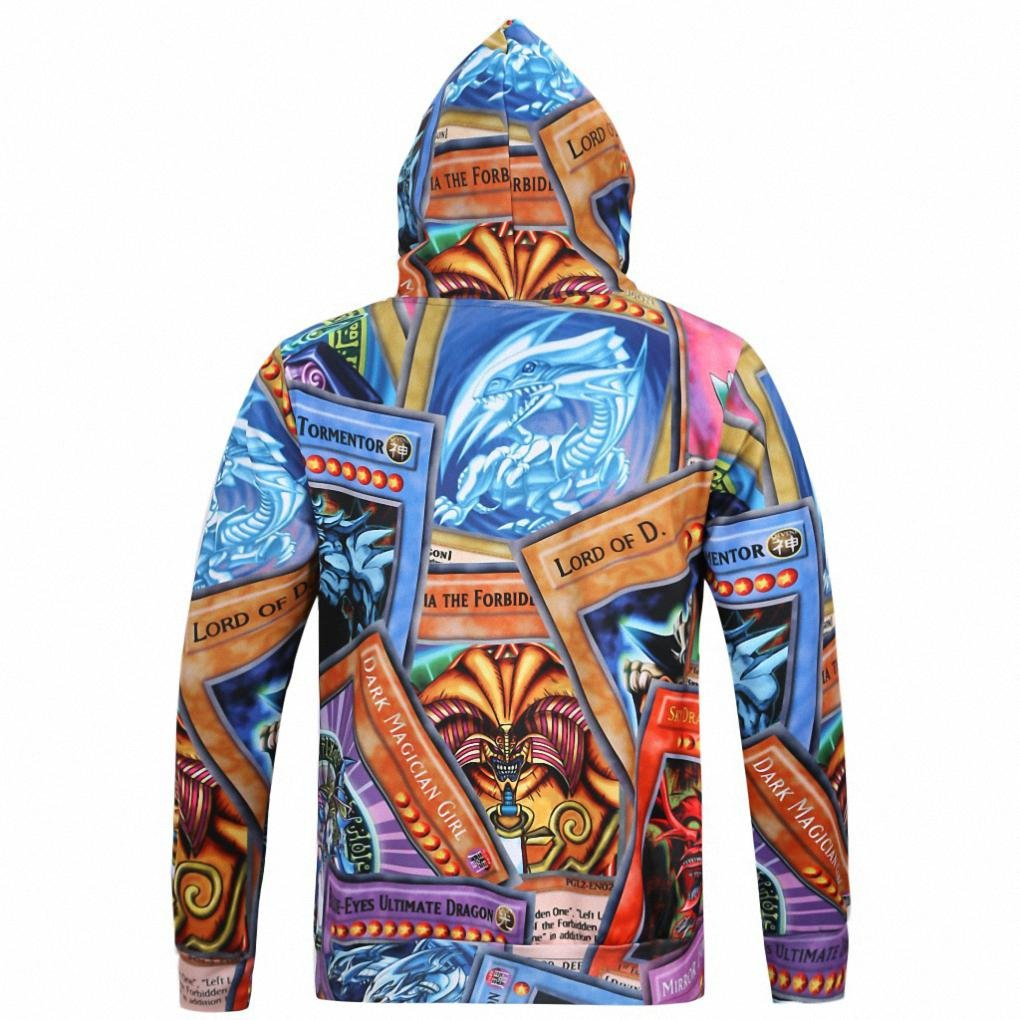 Autumn and winter men s sweater hooded trousers 3D printing with a hat sweater