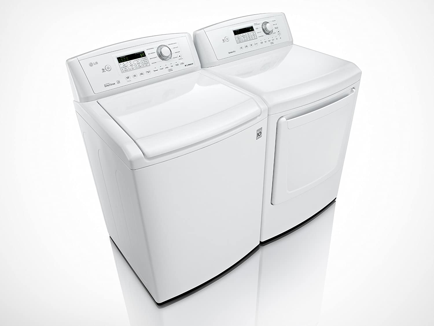 Lg all in one washer and dryer reviews - Amazon Com Lg H E Super Capacity H E Top Load Laundry Pair With Powerful Staincare Technology Wt4870cw Dle4870w Electric Dryer Appliances