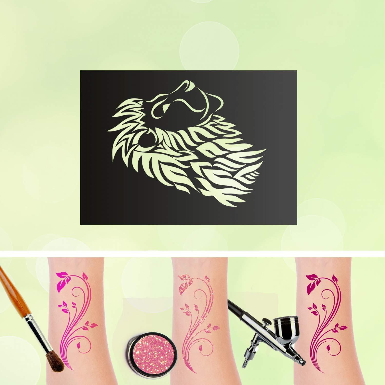 Plantillas de tatuaje, diseño de león, rey del mundo de los ...