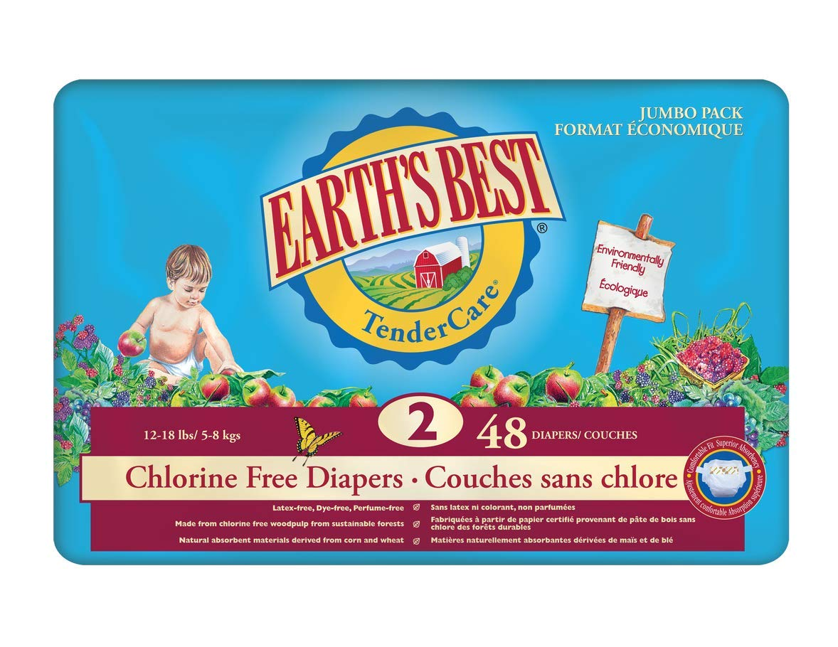 Earth's Best Chlorine Free Diapers - Stage 2 48 Count Earth' s Best