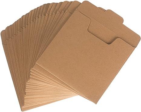 Benail - 50 Sobres de Papel Kraft para CD (12,7 x 12,7 cm): Amazon.es: Informática