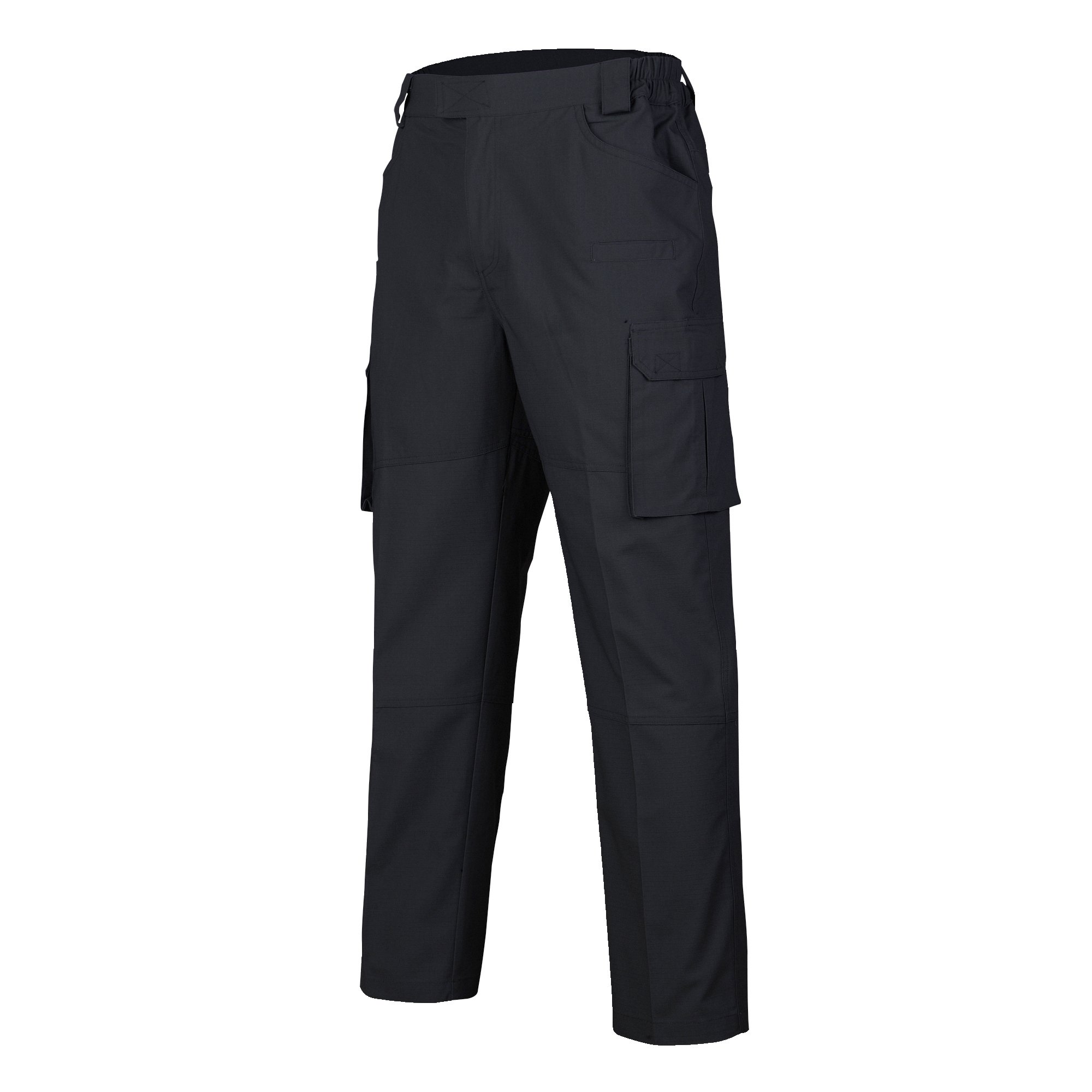 Mens Tactical Pants with 8 Pockets Training Cargo Pants Rip Stop Work Pants(Black,L)