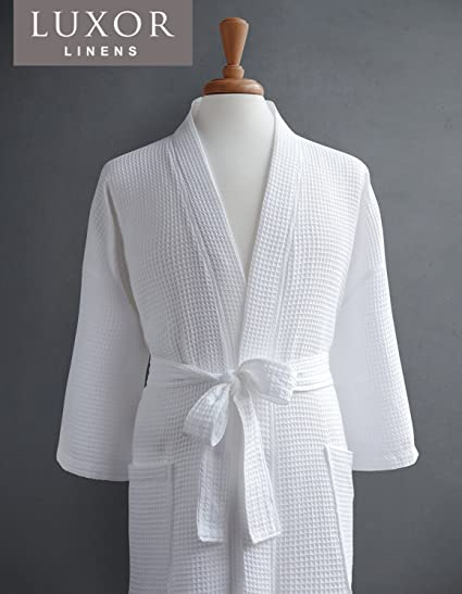 a49edd58c7 Image Unavailable. Image not available for. Color  Luxor Linens Couple s Waffle  Robes ...
