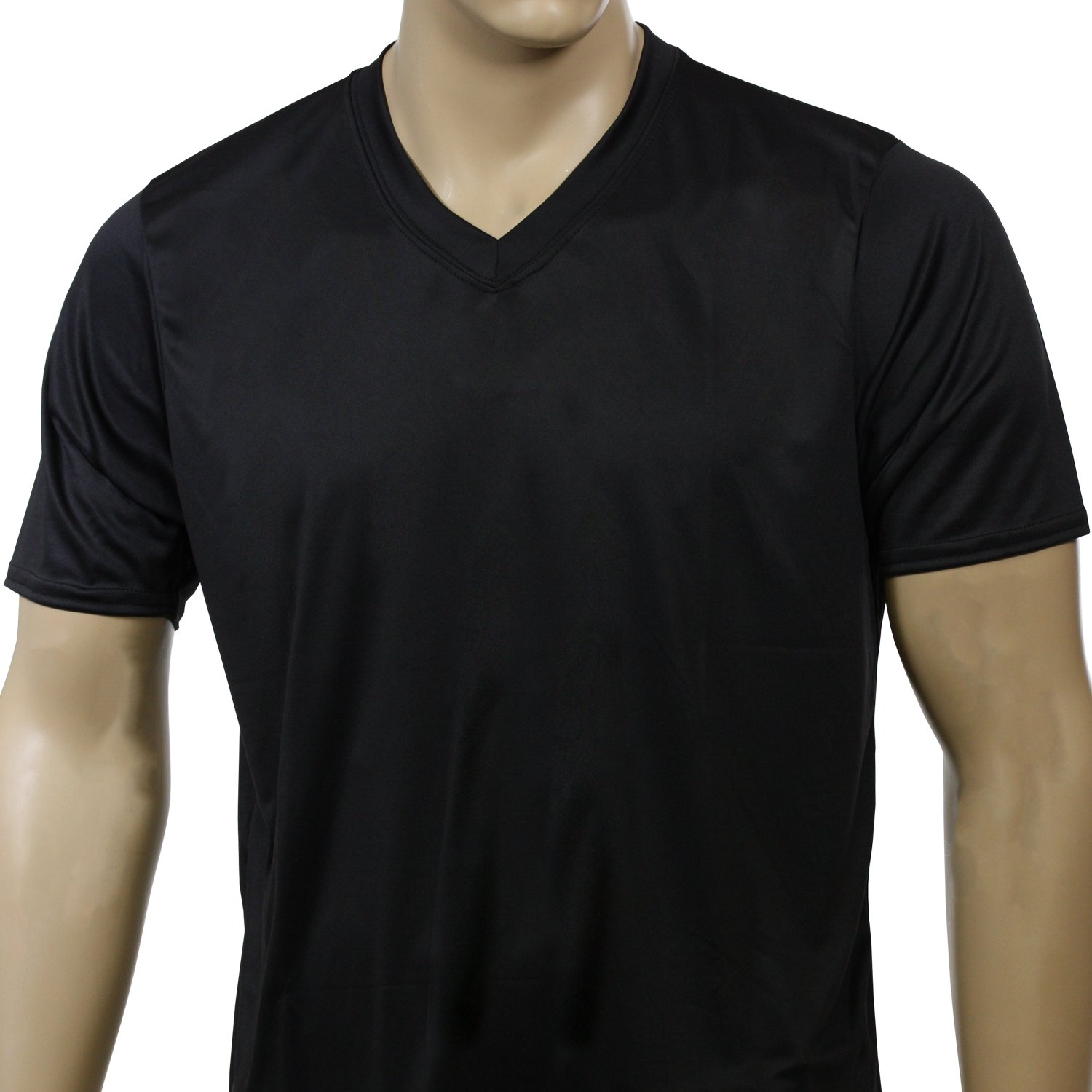 McDavid 905VT Mens Half Sleeve Referee Cut V-Neck T Shirt Black Medium [Misc.]