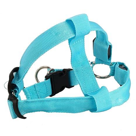 Yosoo Glow LED de flash Dog Walking cinturón arnés correa Tether ...