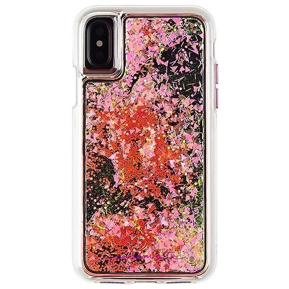 buy popular b7212 441f9 Case-Mate iPhone X Case - GLOW WATERFALL - Glow in The Dark Cascading  Liquid Glitter - Protective Design - Apple iPhone 10 - Pink Glow