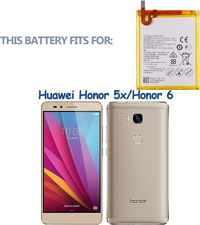 Swark HB396481EBC - Batería compatible con Huawei Honor 5x, Honor ...