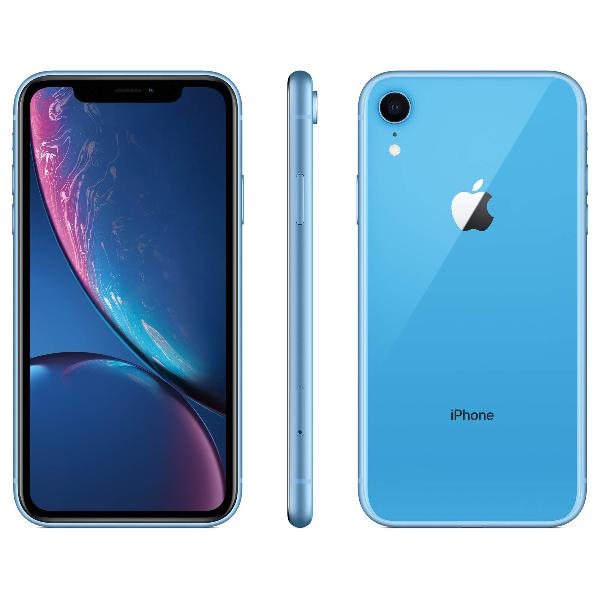 Apple iPhone XR, AT&T, 128GB - Blue (Renewed)