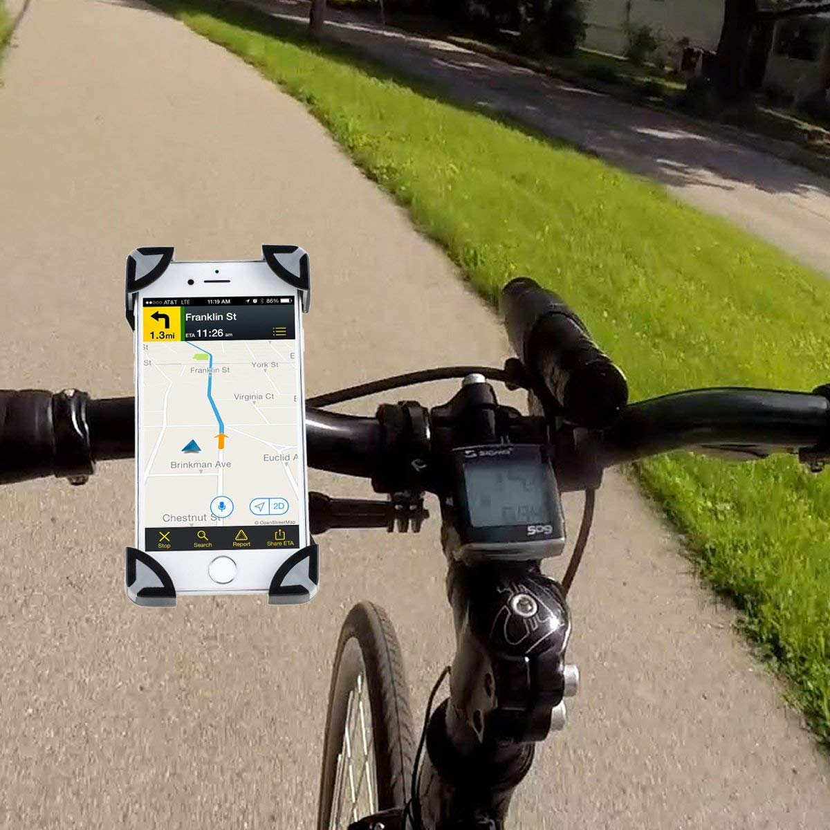 AGPTEK Bike Phone Mount Bicycle Holder, 360 Degrees Rotatable, Adjustable Eagle Claw Design, Universal Cradle Clamp for iPhone 7 8 X, iPhone 7 8 XS Plus, Samsung S7 8 Note 5, GPS etc