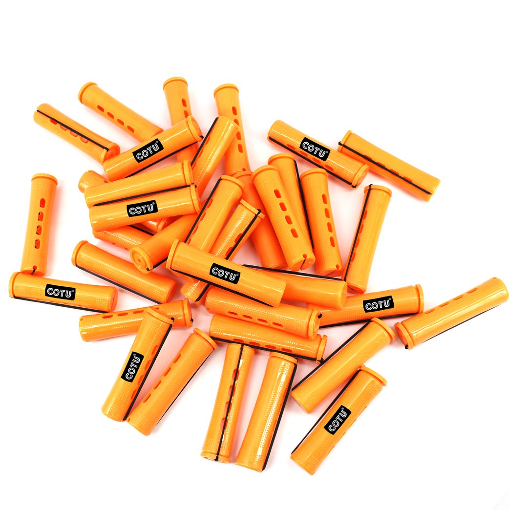48 pc of COTU (R) Hair Perm Rods Jumbo Size - Tangerine Color