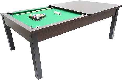 MASGAMES Mesa de Billar Americano Barcino Dark (con Tapa) (213,4 x 121,92 x 78,74 cm): Amazon.es: Juguetes y juegos