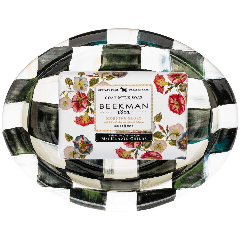 Beekman MacKenzie-Childs Morning Glory Dish soap and Soap set