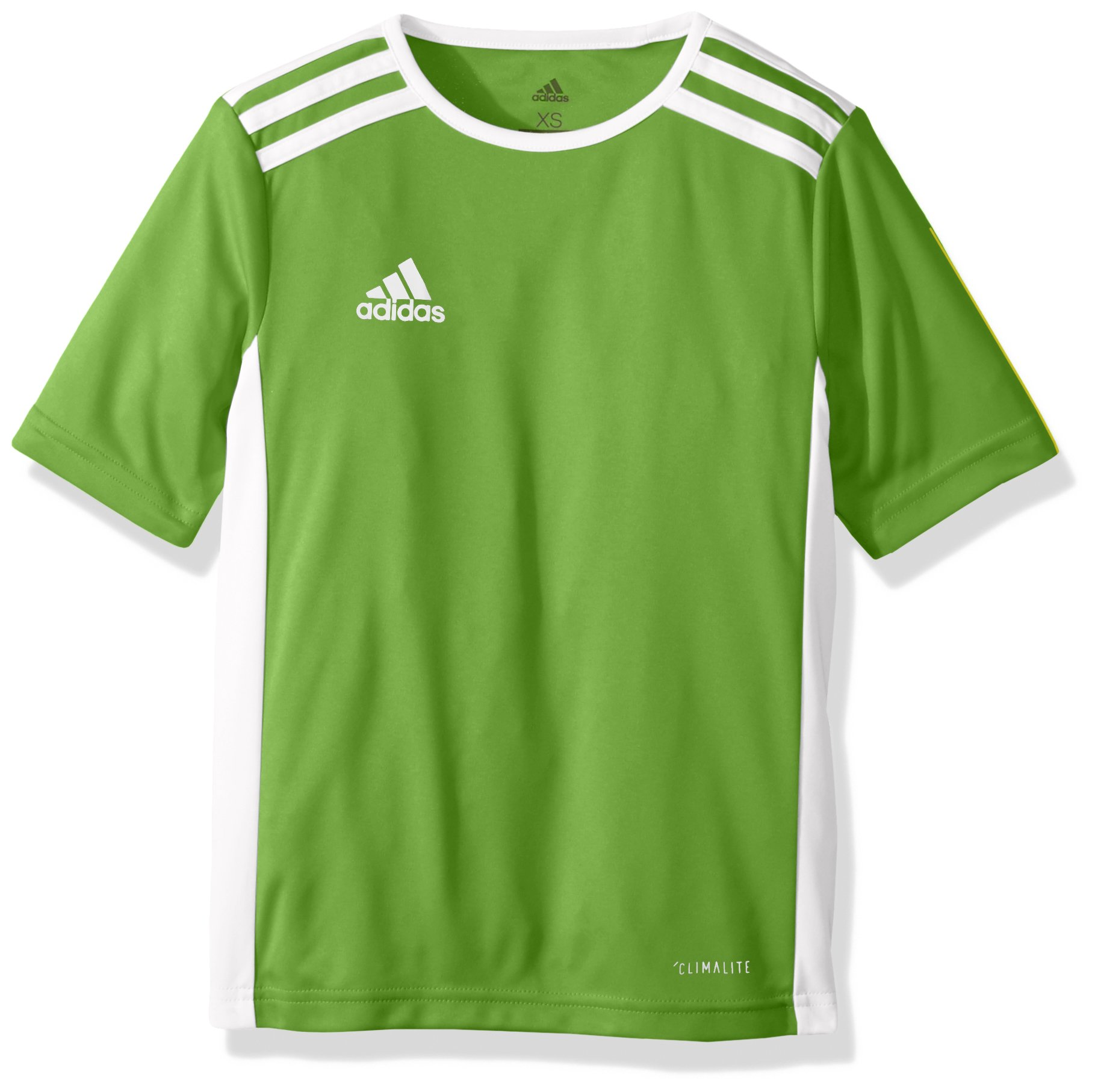 a076711e29d5 adidas Youth Entrada 18 Jersey, Rave Green/White, X-Small