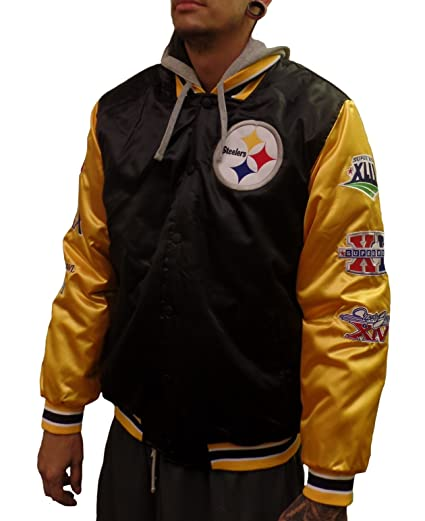 sneakers for cheap b0dff 032a6 Pittsburgh Steelers Six Time Championship Satin Jacket