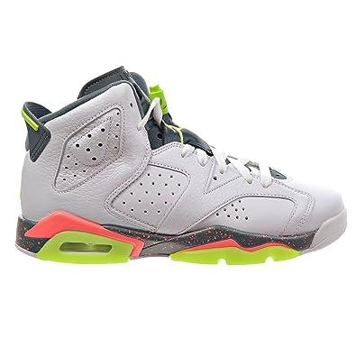 outlet store fcb08 13ec9 Jordan Air 6 Retro BG Big Kid s Shoes White Ghost Green Hasta Bright