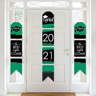 product image for Big Dot of Happiness Green Grad - Best is Yet to Come - Hanging Vertical Paper Door Banners - 2021 Green Graduation Party Wall Decoration Kit - Indoor Door Decor