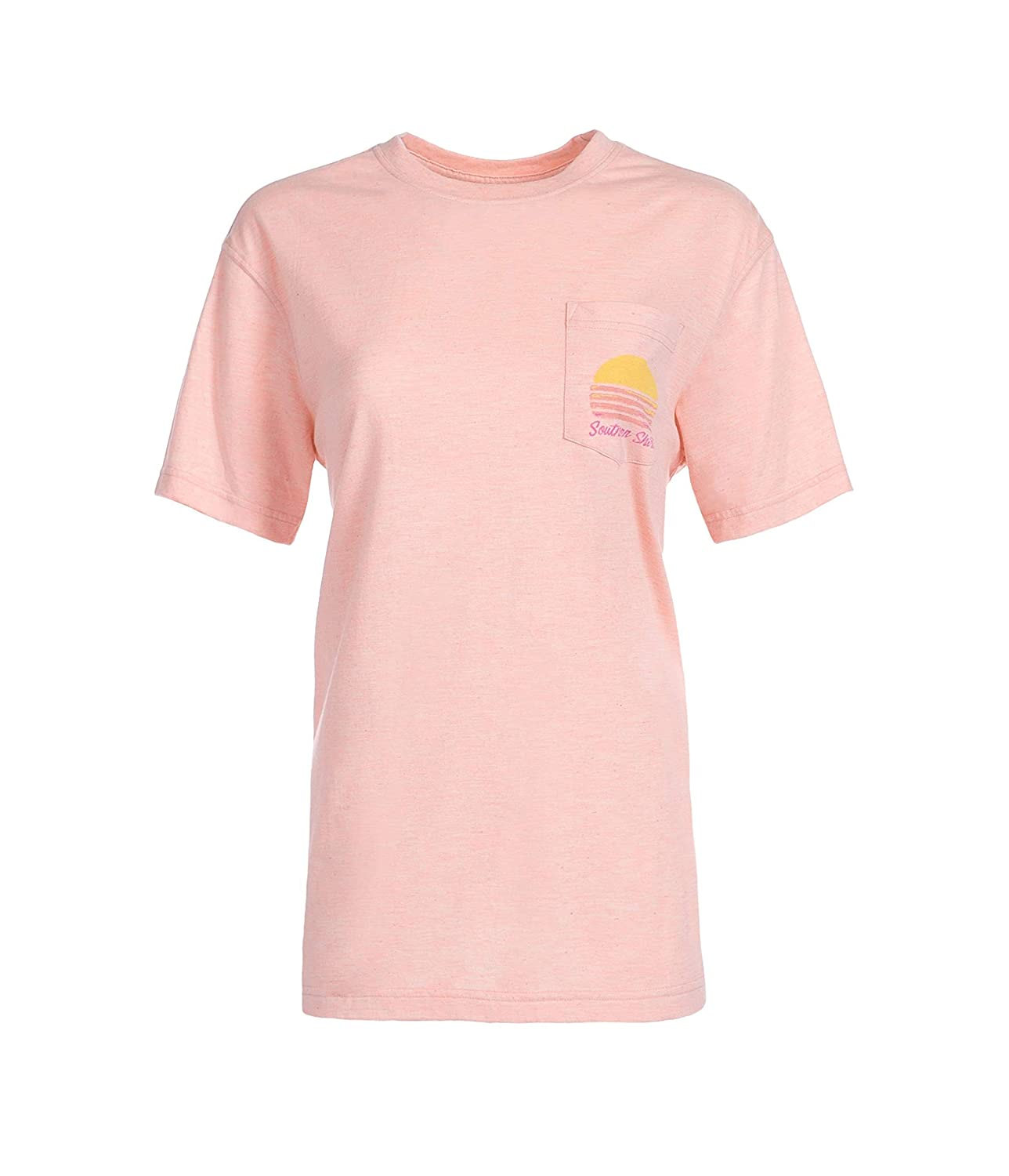 96aee1c1cde3 Southern Shirt Company Here Comes The Sun Short Sleeve T-Shirt at Amazon  Women s Clothing store
