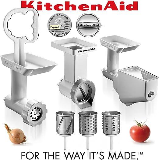 KitchenAid FPPC fijación Pack Nuevo. Grinder + colador + nuevo cortador/triturador de papel: Amazon.es: Hogar