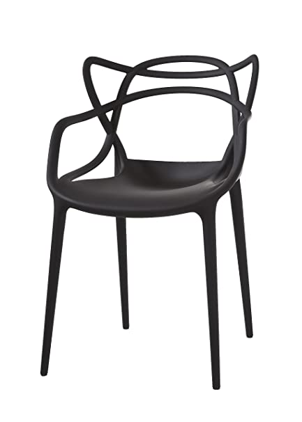 Kartell Garden Furniture Amazon kartell masters chair pack of 2 black kitchen dining kartell masters chair pack of 2 black workwithnaturefo