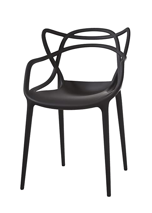 amazon com kartell masters chair pack of 2 black kitchen dining