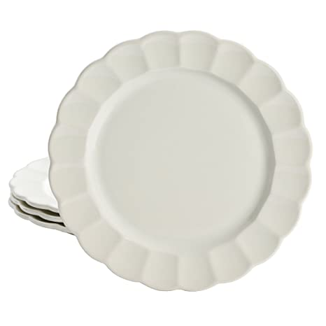 Pioneer Woman Luster Linen Off White Dinner Plates 10.75u0026quot; ...  sc 1 st  Amazon.com & Amazon.com | Pioneer Woman Luster Linen Off White Dinner Plates ...