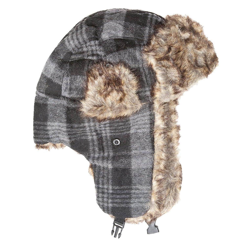 Accessoryo - Chapeau de trappeur en tartan en laine unisexe disponible dans une sélection de couleurs