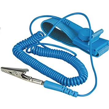 LUPO Anti Static Wrist Strap ESD Grounding Adjustable Wrist Strap Band -  Prevents Build up of Static Electricity
