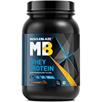 MuscleBlaze 100% Whey Protein - 2.2 lb/ 1 kg, 30 Servings (Rich Milk Chocolate)