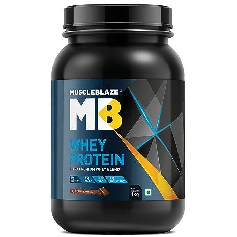 016dc48210 MuscleBlaze 100% Whey Protein (Rich Milk Chocolate, 1 kg / 2.2 lb ...
