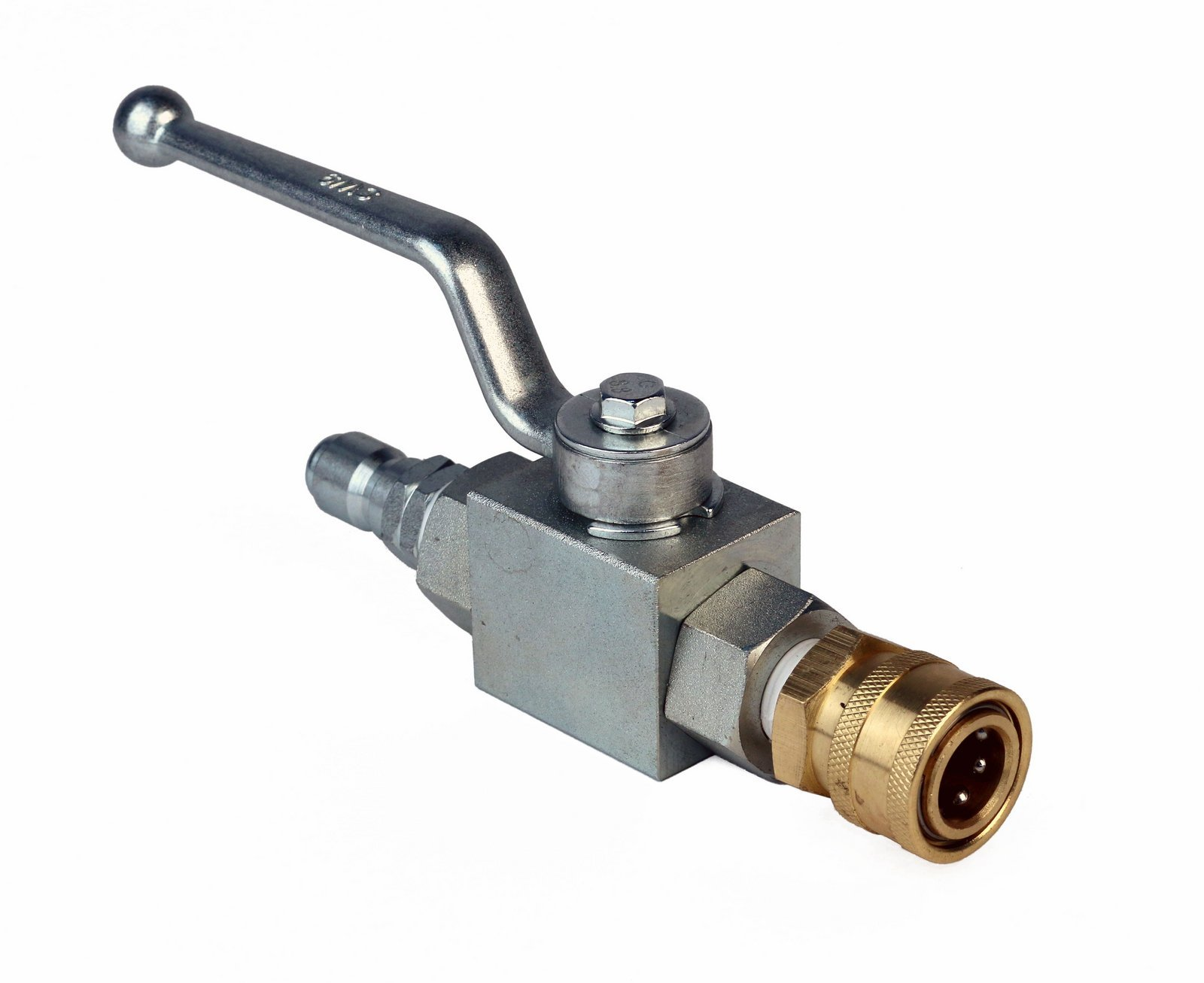 High Pressure Ball Valve Kit 3/8'' Male Plug X 3/8'' Female Quick Connect 4000PSI for High Pressure Hoses