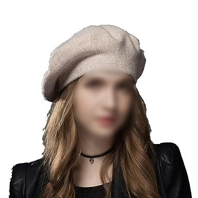 9c879a36ed6704 SmarketL Winter Hat Berets 2018 New Wool Cashmere Womens Warm Brand Casual  Hats Girls Cap,