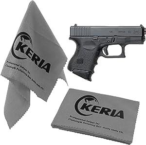 """Keria Gun Wipe Gun Cleaning Supplies Gun Rags 2 Pack Gun Care Silicone Cleaning Cloth Size 12""""x12"""",Firearm Accessories Cleaning Products (Gun Cloths)"""
