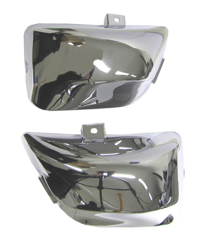 Chrome Side Panel Covers (2) Yamaha Virago XV250 & XV535 1988-2003