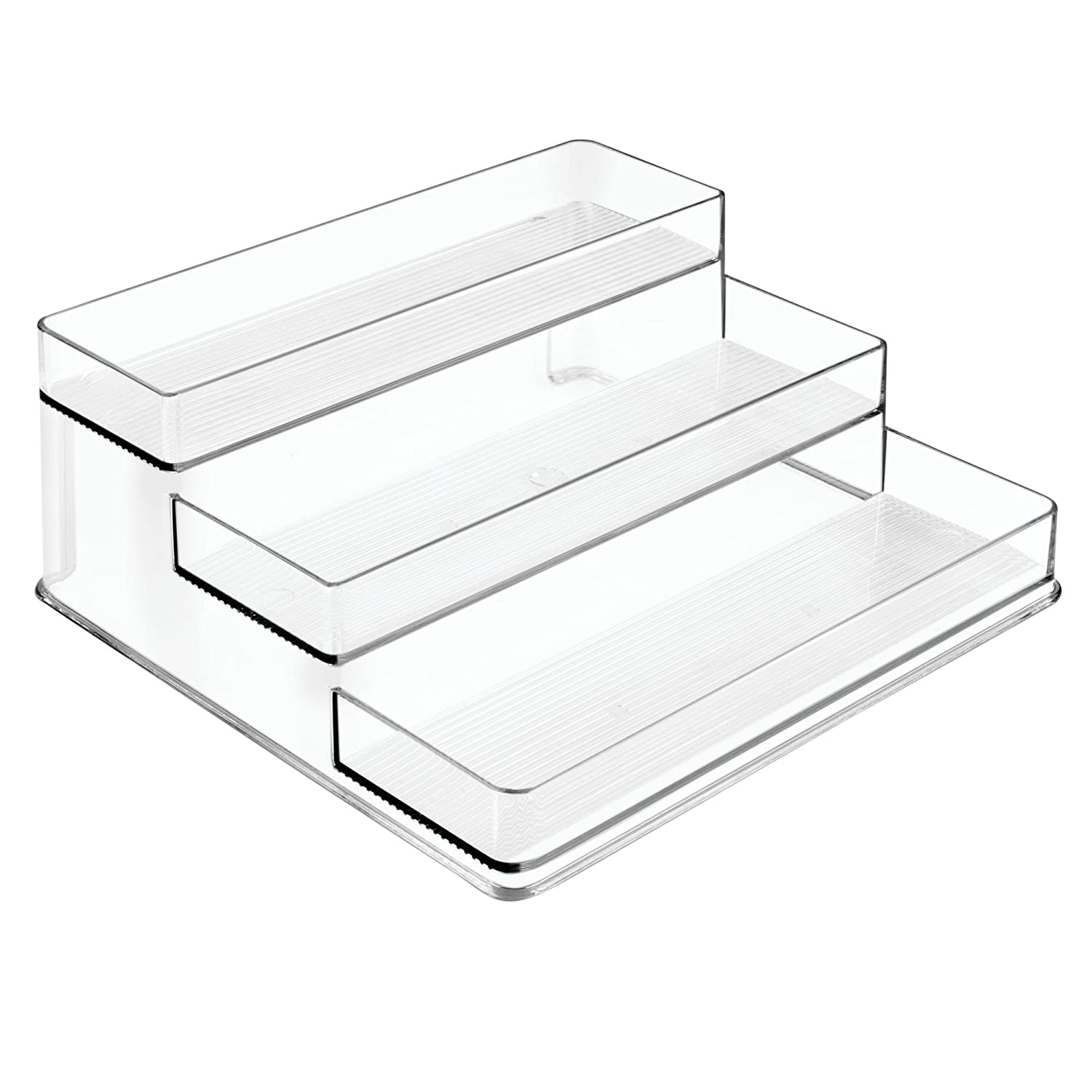 InterDesign Lazy Susan Storage Shelf with Handles for Kitchen Cabinets, Pantry, Clear Inc. 62650