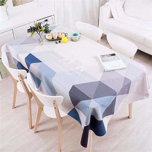 140 * 200 cm gris azul geométrico triángulo Instagram mantel ...