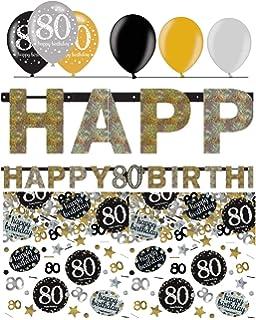Feste Feiern Geburtstagsdeko 80 Geburtstag 13 Teile Deko Set