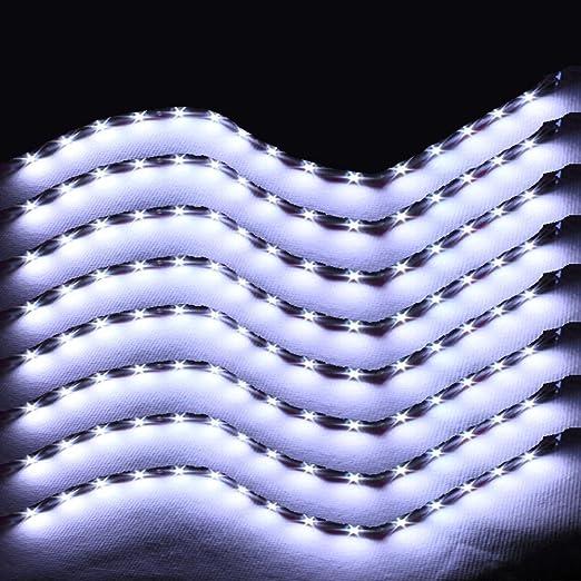 3 opinioni per 30cm 15LEDs Strisce Illuminazione Interna adesivo impermeabile (Bianco freddo)