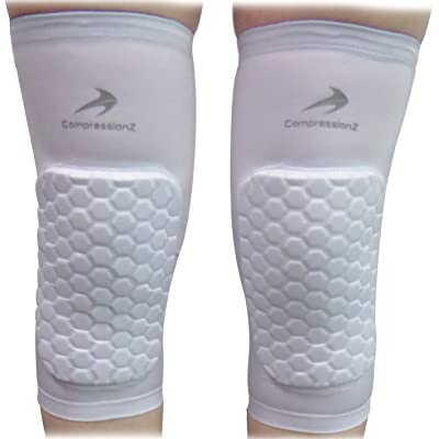 Padded Knee Sleeves (1 Pair) Protective Compression Wear