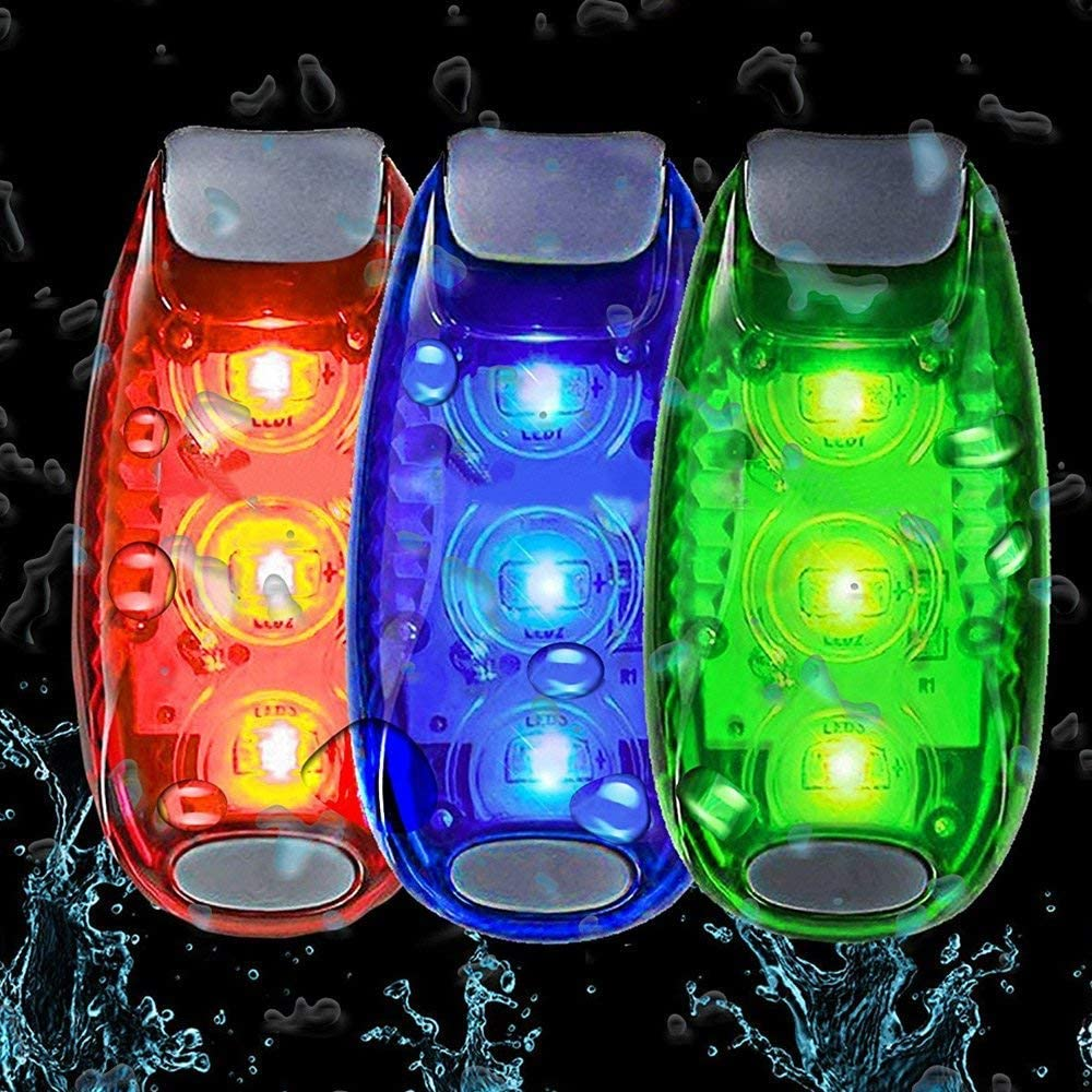 Boat Stroller Dog Collar Best Night High Visibility Accessories for Your Reflective Gear 4 Pack LED Safety Light +Free Bonuses Walking Clip On Strobe Running Lights for Runners Bicycle