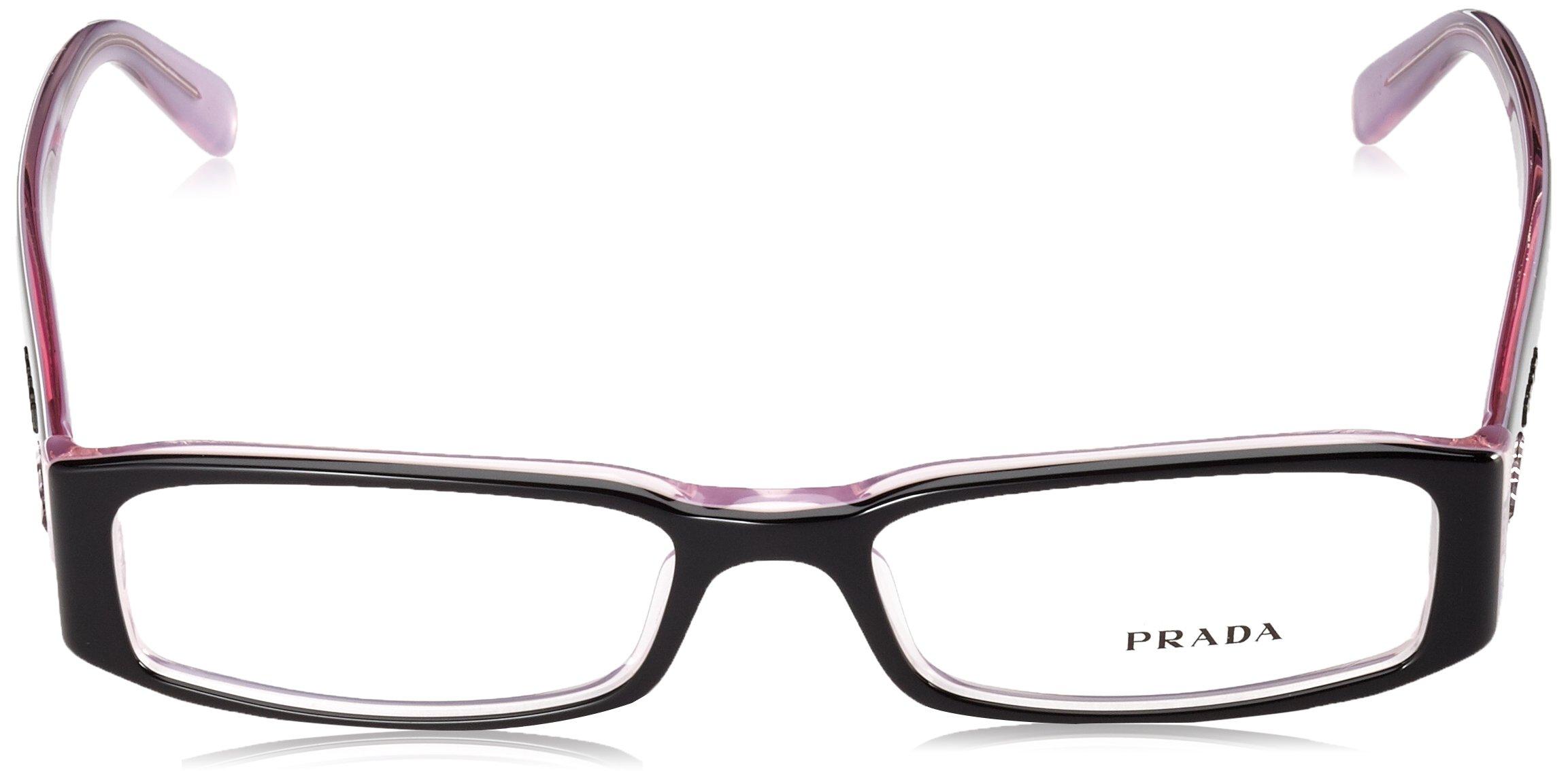 PRADA EYEGLASSES VPR 10F BLACK 3AX-101 VPR10FENTIC by Prada (Image #2)