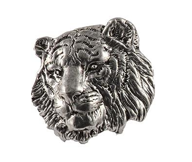 deb06df26fb Amazon.com: Tiger Head, Pewter Pin, M108: Jewelry