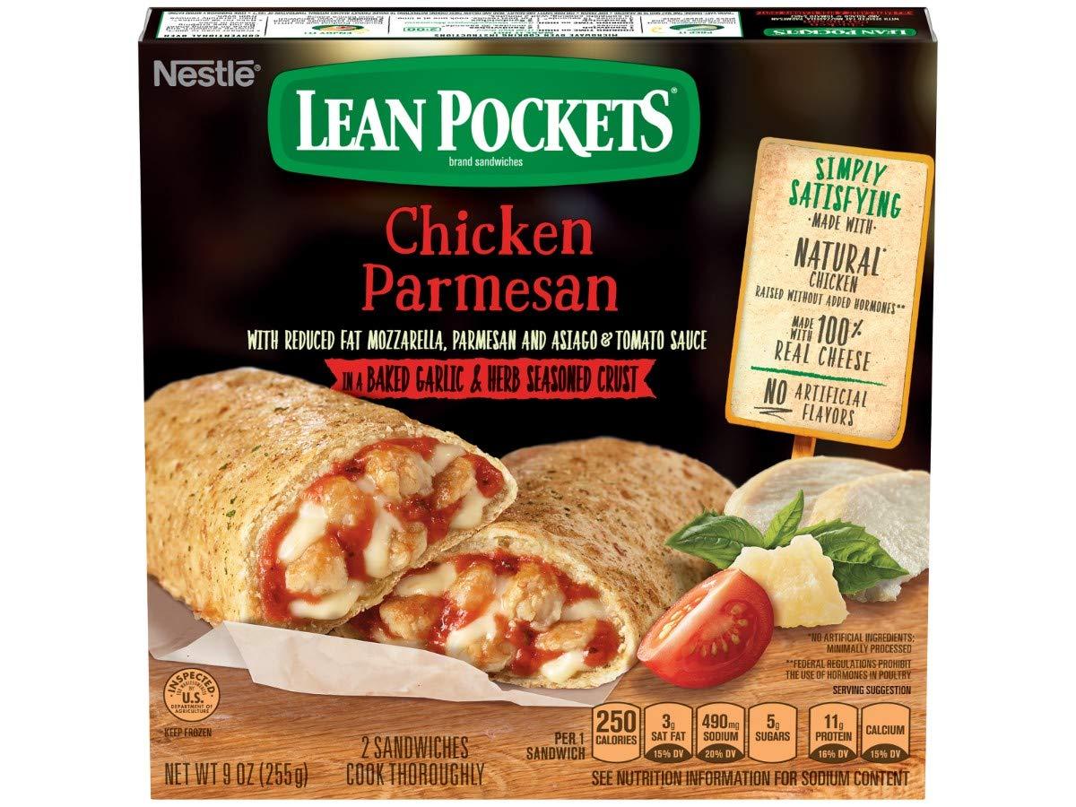 Nestle Lean bolsillos pollo parmesano Sandwich, 9 Onza – -8 ...