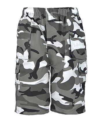 8f993f036f886 RageIT Lotmart Enfants Uni & Camouflage Multipoche Short Garçon Imprimé  Armée Cargo Combat