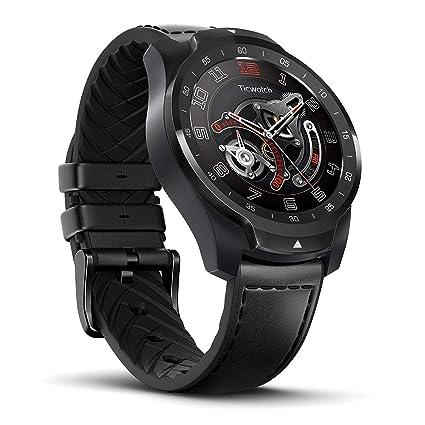 Ticwatch Pro Reloj Inteligente Smart Watch Compatible con iOS y Android (Wear 0S) Asistente de Google Tecnología de Visualización en Capas Cambia Su ...