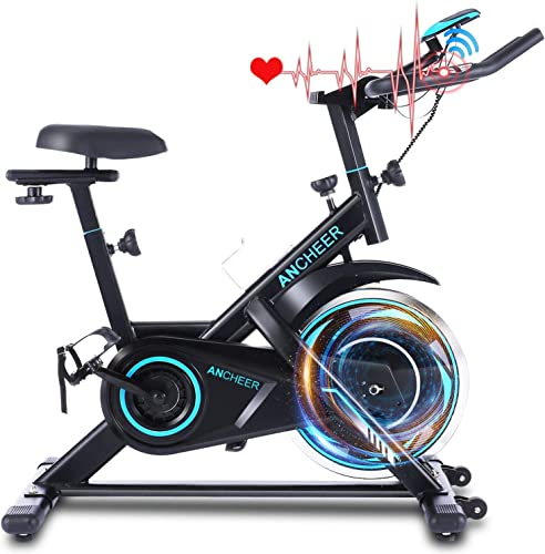 ANCHEER 49Lbs Exercise Bike Stationary