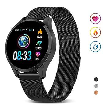 GOKOO Smartwatch Mujer Hombre, Impermeable Reloj Inteligente Monitores de Actividad Impermeable IP67 con Monitor de Sueño Pulsómetros Podómetro ...
