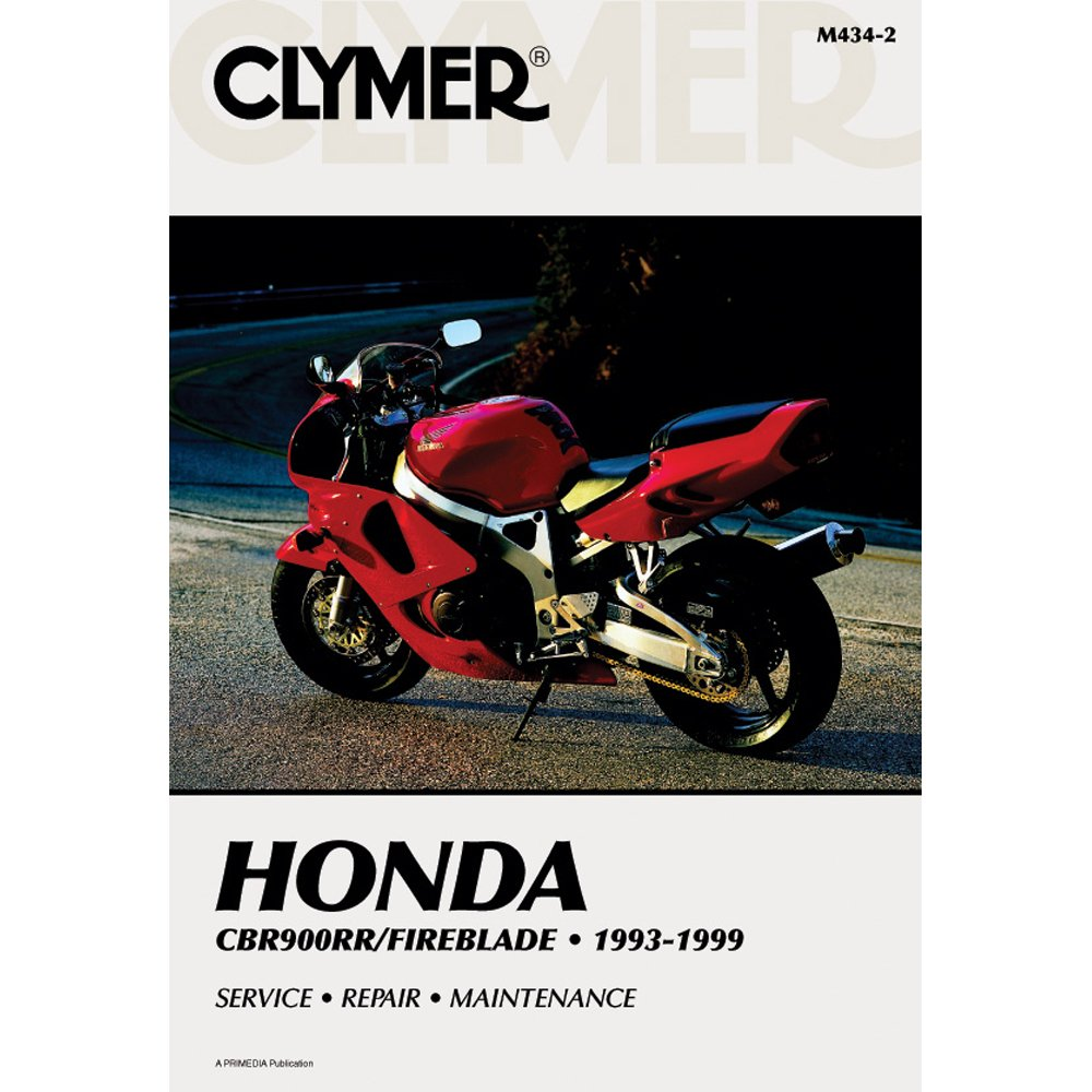 Amazon.com: CLYMER MOTORCYCLE REPAIR MANUAL - HONDA CBR 900RR - 1993-1999  _M434-2: Automotive