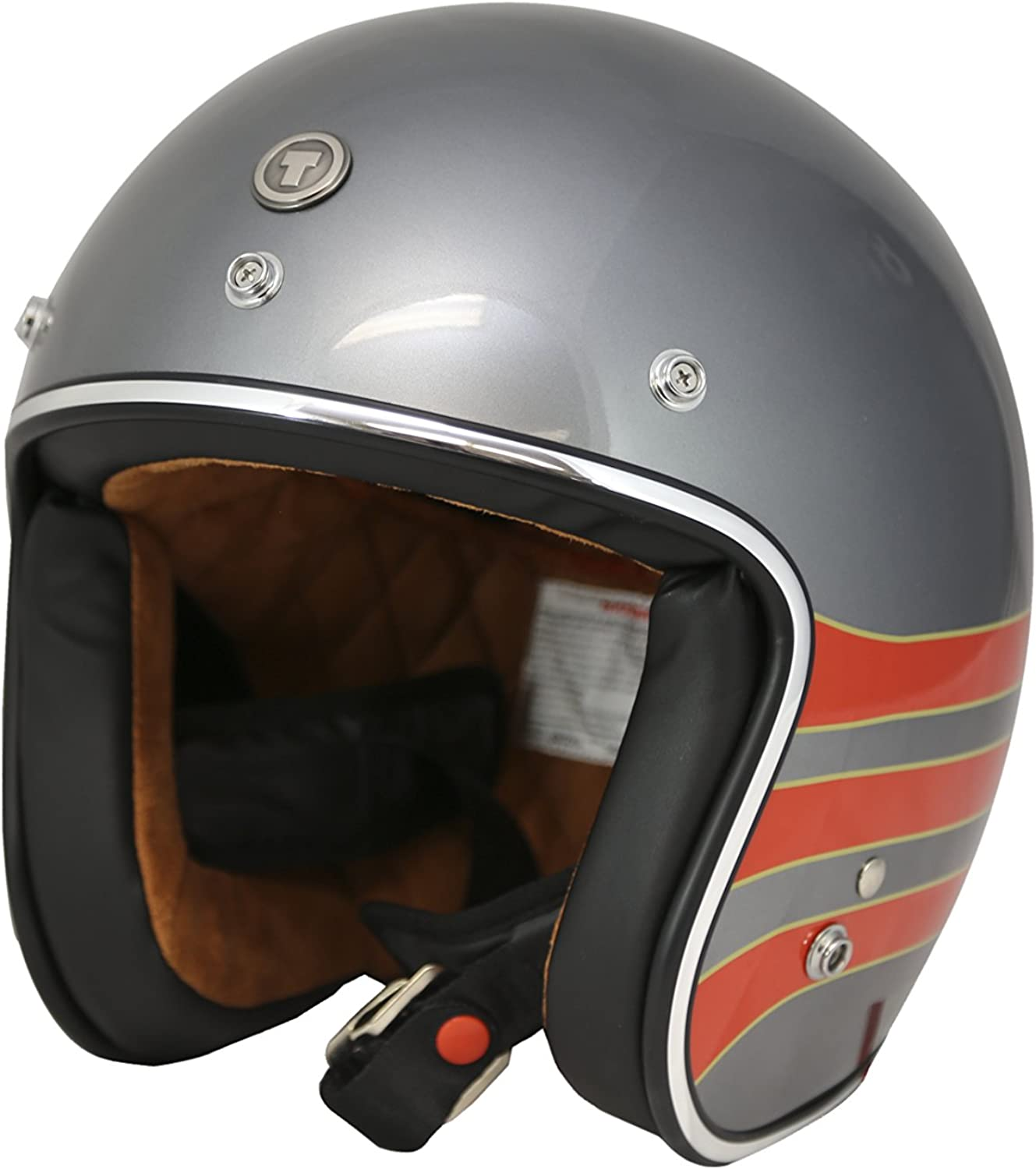 TORC Unisex-Adult T50 OFFer Route 66 3 Open Helmet Free shipping / New Flat Face Black 4